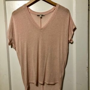 Pink Express V Neck Lightweight Shirt
